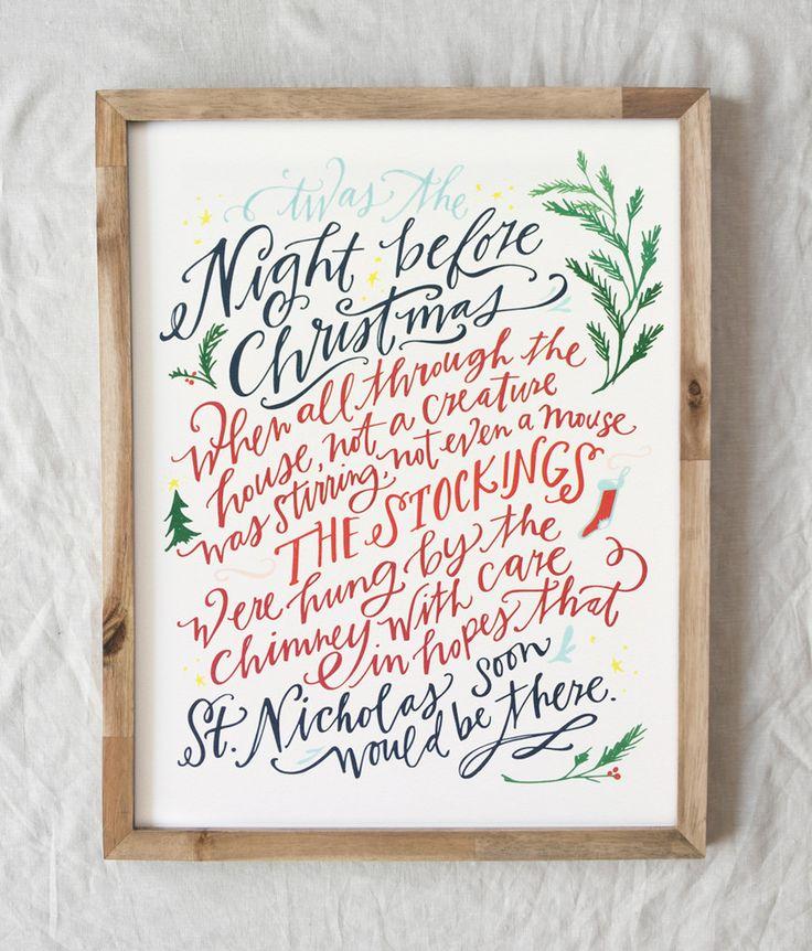 Night Before Christmas Print