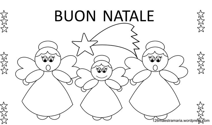 156 best lavoretti per natale images on pinterest winter for Disegni da colorare angeli