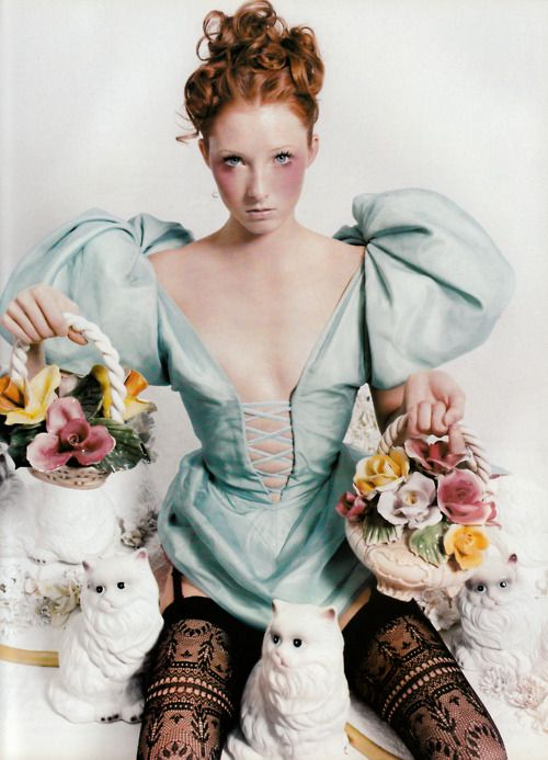 Vogue Paris, December/January 1997-98 Photographer: David LaChapelle Model: Maggie Rizer Dress by Christian Dior