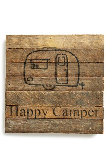 Free shipping and returns on Second Nature By Hand 'Happy Camper' Repurposed Wood Wall Art at Nordstrom.com. A stenciled graphic that appeals to the wanderlust in all of us is displayed across a rustic wall plaque handcrafted from reclaimed wood.