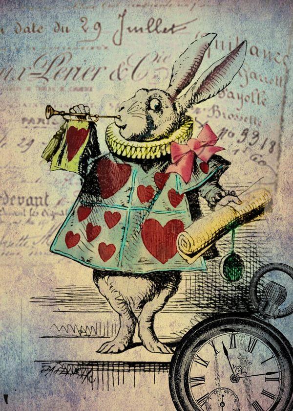 "IDEA FOR BACK PIECE --> Meredith Wish, ""Alice in Wonderland"", Digital Art, Collage, 2011"