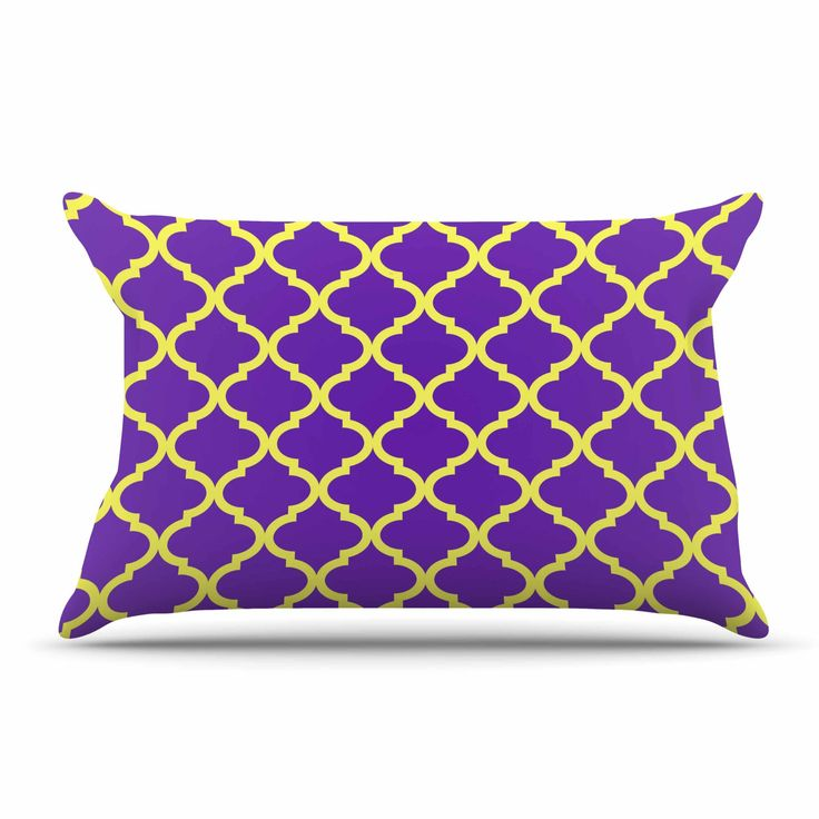 "Matt Eklund ""Culture Shock"" Yellow Purple Pillow Case"