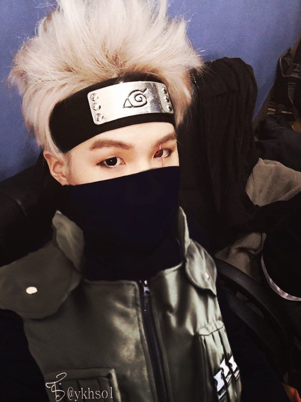 BTS Suga as Kakashi. I can't.... Kakashi is one of my favourite characters from Naruto.....I can't