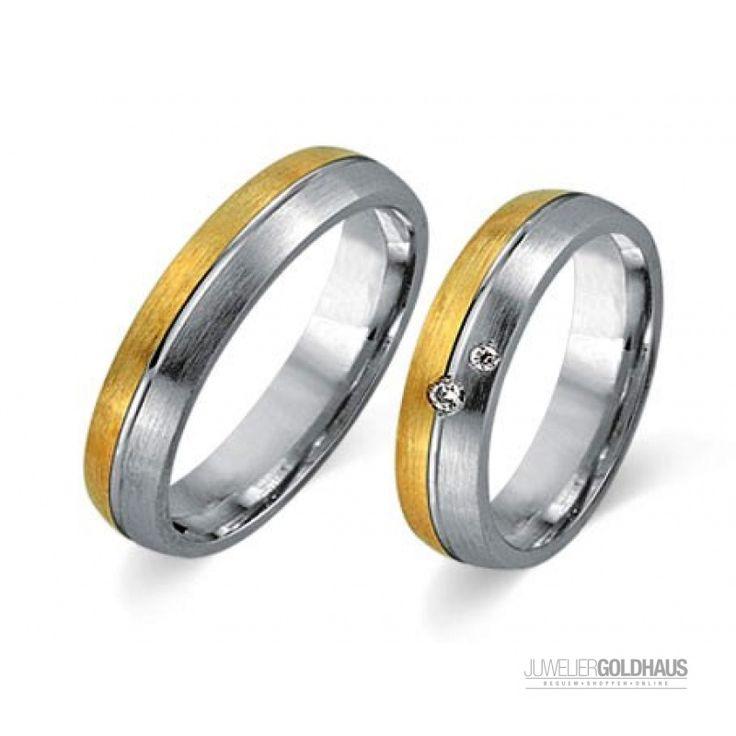 Trauringe Eheringe Gold Gelb/Weiss - CERA3009