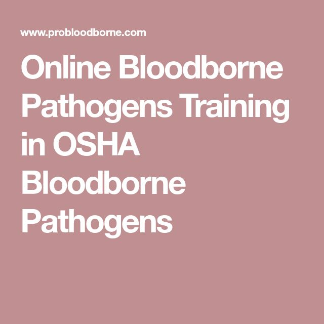Online Bloodborne Pathogens Training in OSHA Bloodborne Pathogens
