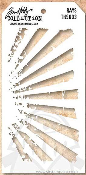 Tim Holtz Stencils | Tim Holtz Layering Stencil - Rays, sirstampalot.co.uk