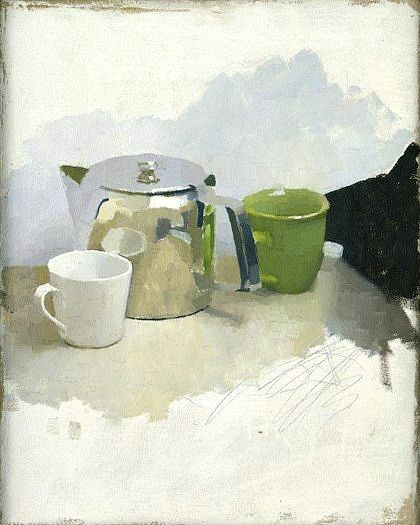Gorgeous little still life: Diarmuid Kelley, Not for All the Tea in China, 2002.