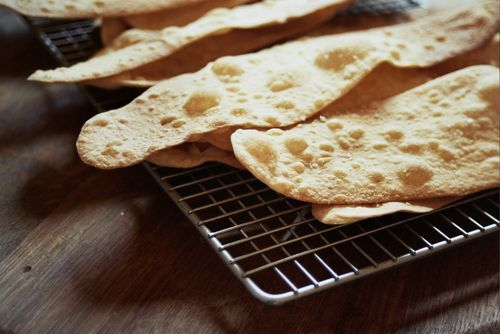 Ottolenghi's Olive Oil Crackers (Note: recipe v similar to one for Plain papad)