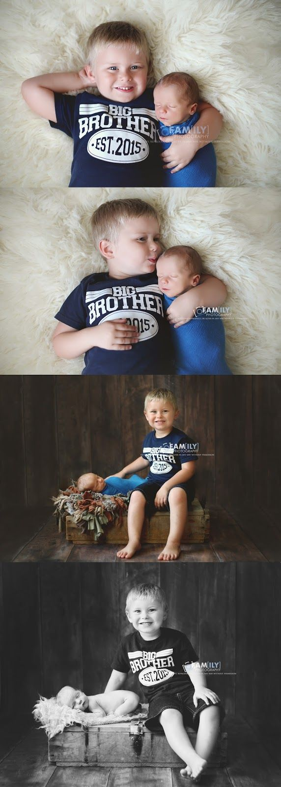 Family Photography, newborn with older brother, newborn and sibling photography