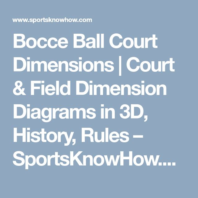 Bocce Ball Court Dimensions | Court & Field Dimension Diagrams in 3D, History, Rules – SportsKnowHow.com