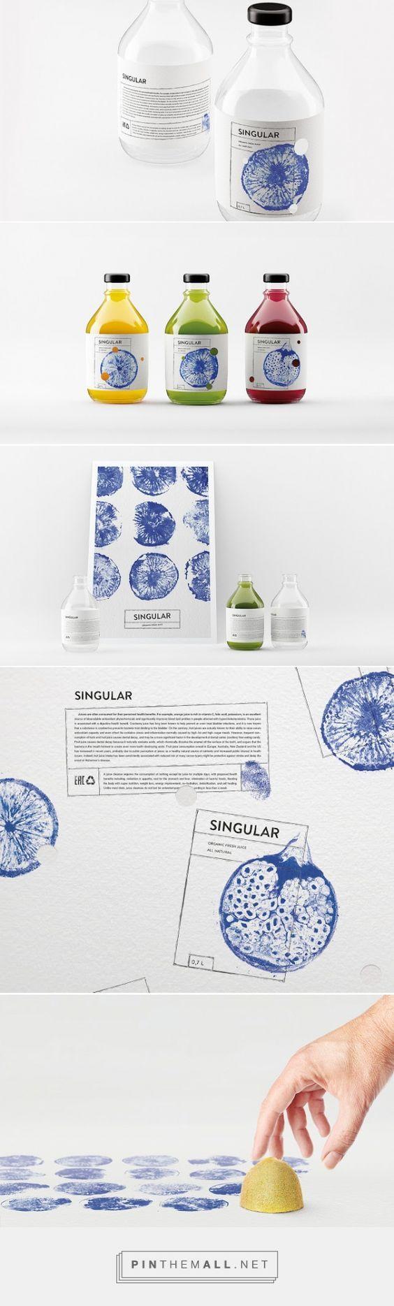SINGULAR Fresh Juice packaging concept designed by Nikita Ivanov - http://www.packagingoftheworld.com/2015/11/singular-fresh-juice-concept.html: