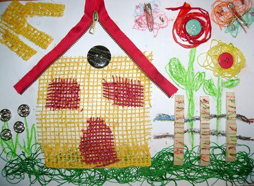 textilná koláž s deťmi