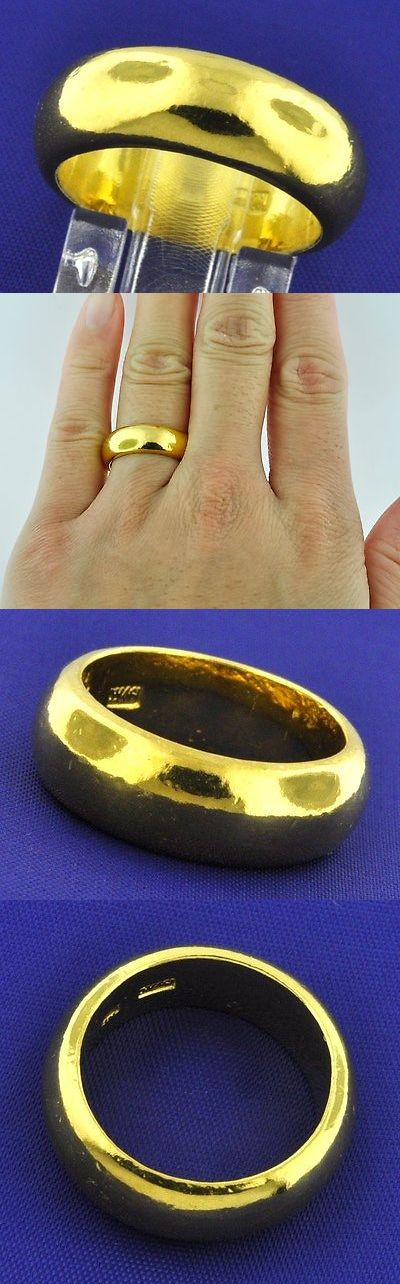 Precious Metal without Stones 164341: 24K 999.9 Solid Yellow Gold Band Ring Handmade In Usa 6Mm Size 8 15.00 Grams -> BUY IT NOW ONLY: $995.0 on eBay!