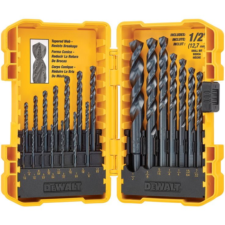 DEWALT 21-Pack Black Oxide Twist Drill Bit Set