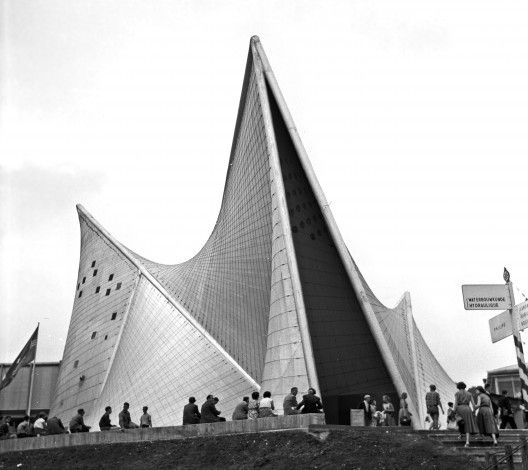 Expo '58 + Philips Pavilion by architecture grand master Le Corbusier and Iannis Xenakis