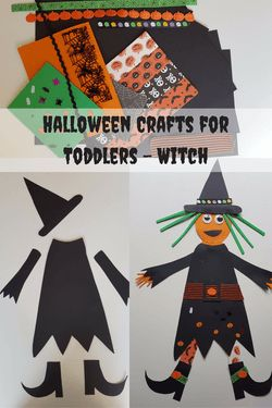 Halloween Crafts for Toddlers - Witch - how to make a fab witch for Halloween…