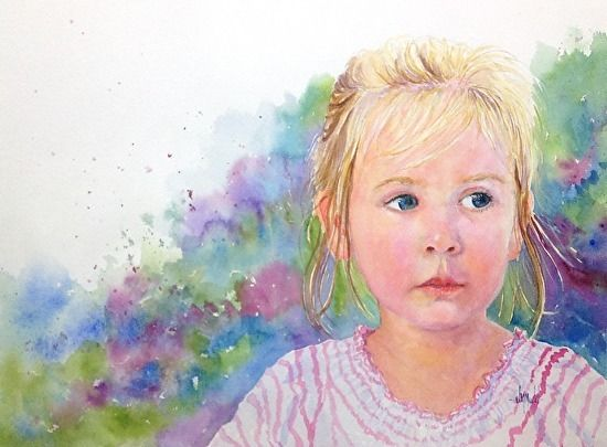 Ava by Judy Mudd Watercolor ~ 12 x 16 SOLD