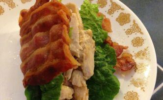 Chicken Ranch Bacon Tacos — w/ Bacon Taco Shells!