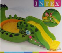 Toddlers Garden Crocodile Paddling Pool And Slide With Water Spraying Function