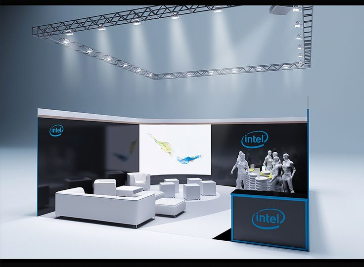 """Exhibition Stand for """"Intel"""" designed by GM design group #exhibitionstands #exhibition #stand #booth #gmdesigngroup #gmdesign #gm #design"""