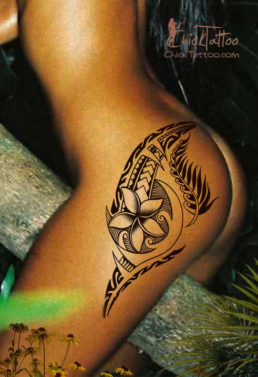 Plumeria Tattoo, I wonder if this would hide or camouflage my stretch marks