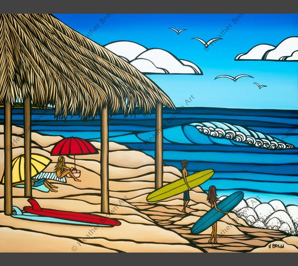Windansea Surf art by Heather Brown #surfart #heatherbrown