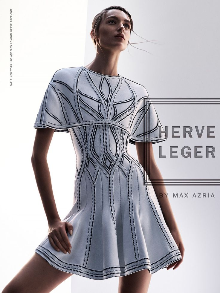 Stasha Yatchuk stars in Herve Leger's spring-summer 2016 campaign