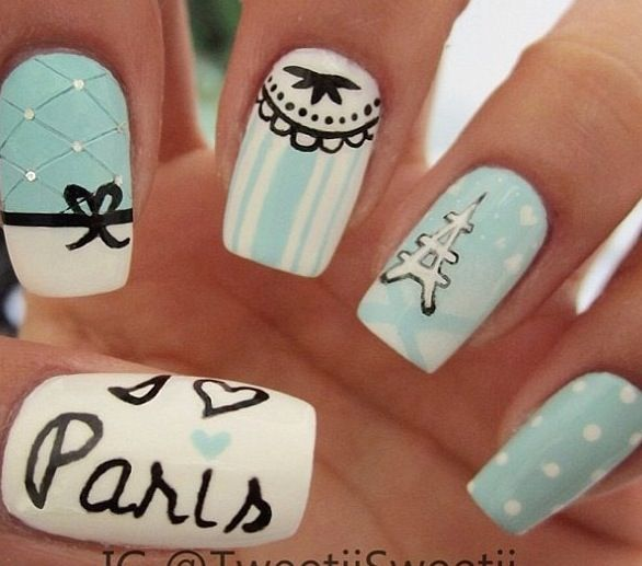 Need to get my nails done like this <33