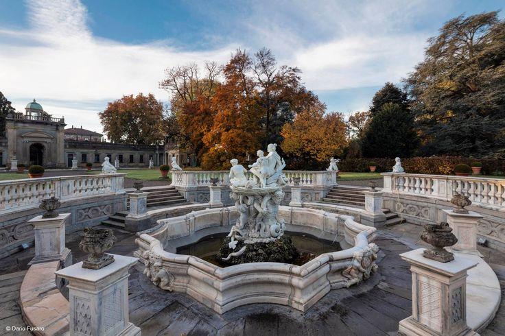 Galatea's fountain,Villa Litta, Lainate garden, Lombardy, Italy