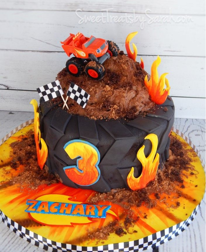 Blaze Birthday Cake #Blaze Monster Truck Birthday