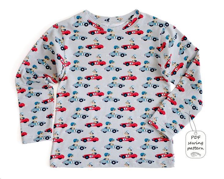 Kids t-shirt pattern pdf, boys t-shirt pattern, kids sewing patterns.