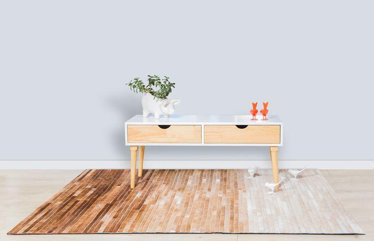 Tapete Indicus - Rug Indicus. Patchwork Leather Design. Beautiful!!! Tapetes en Cuero