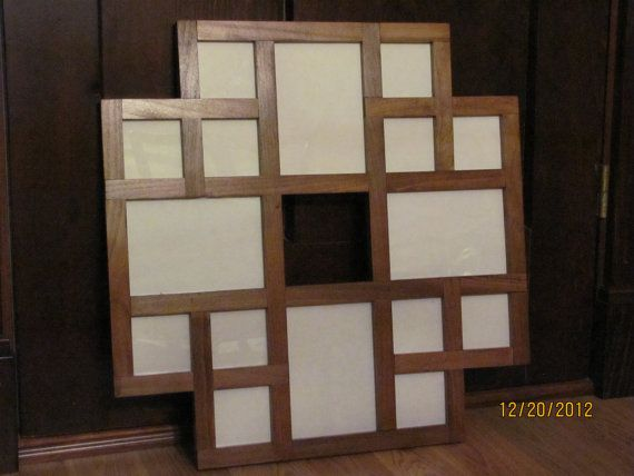 Wooden Stained Multiple Picture Frame by ZimWoodworking on Etsy, $90.00