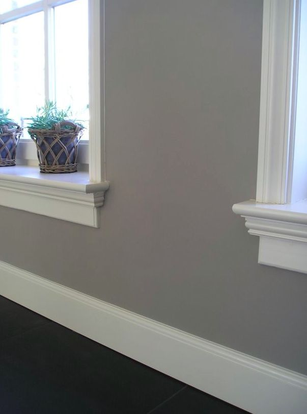 Beautiful baseboards and window sills