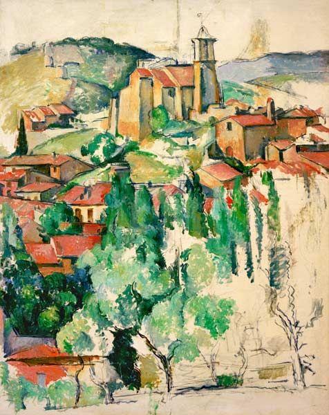 Titre de l'image : Paul Cézanne - Afternoon in Gardanne