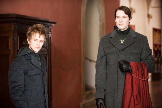 The Twilight Saga: New Moon (2009)   Photo with Daniel Cudmore (Felix), Charlie Bewley (Demetri)
