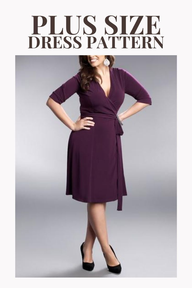 Pdg Sewing Patterns Plus Size Wrap Dress Pattern Women S Clothes Patterns Download Digital D Womens Clothing Patterns Clothes For Women Wrap Dress Pattern [ 1102 x 735 Pixel ]