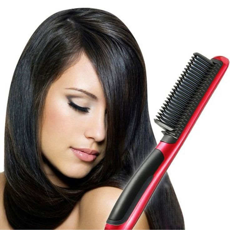 2016 Professional Salon comb hair styling tools Ceramic Heat hair straightener hair hot comb electric hair smoothing brush