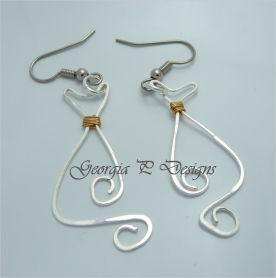 CAT wired earrings - Georgia P Designs