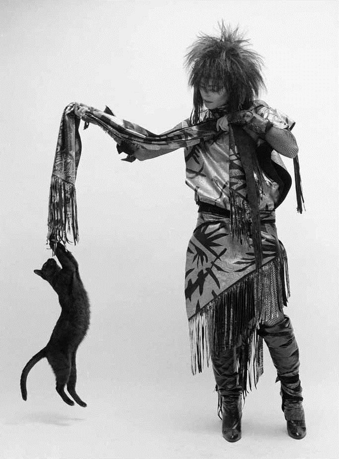 Siouxsie Sioux and black cat. | Rock Stars And Their Kitty ...