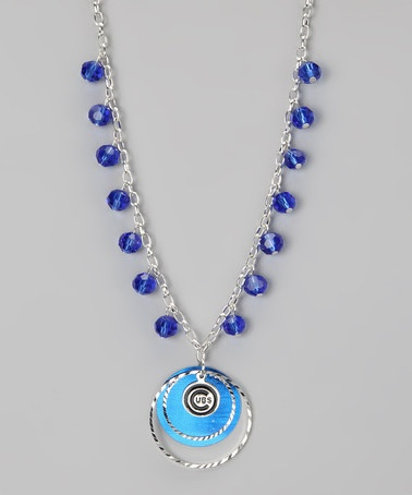 Take a look at this Chicago Cubs Game-Day Necklace by LogoArt on #zulily today!