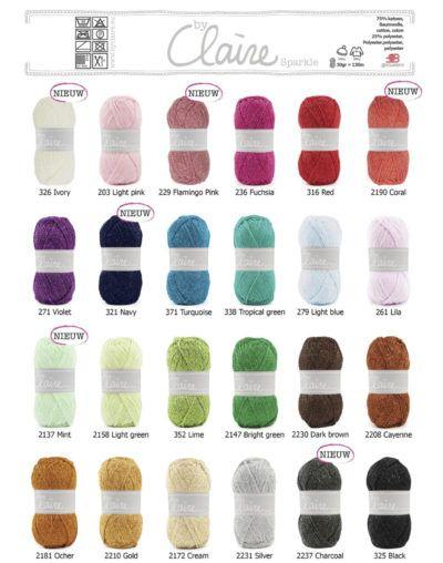 Joehoe!!! Er zijn prachtige nieuwe kleuren bij van het te gekke Sparkle garen!