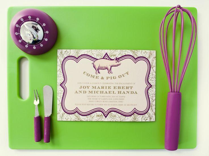 20 best party time invitations images on pinterest halloween pig roast invitation stopboris Images