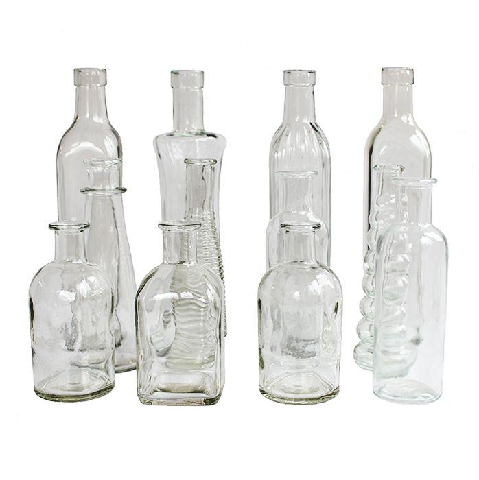 Best 25 wedding bottles ideas on pinterest wedding wine for Clear wine bottle centerpieces