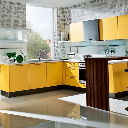 My dream kitchen also has stainless steel accents, two ovens, six burners, and open air space.