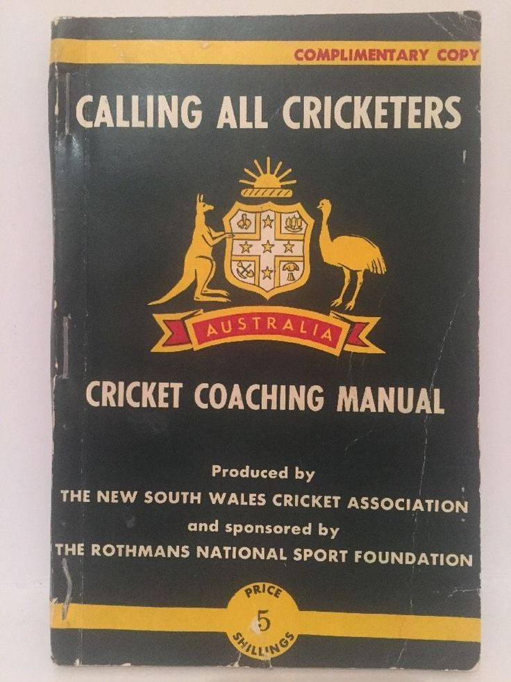 Vintage 60s Cricket Manual Calling All Cricketers NSW Cricket Association