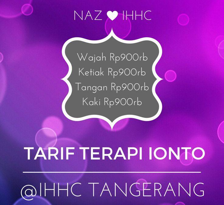 Tarif Terapi Ionto @ IHHCTangerang
