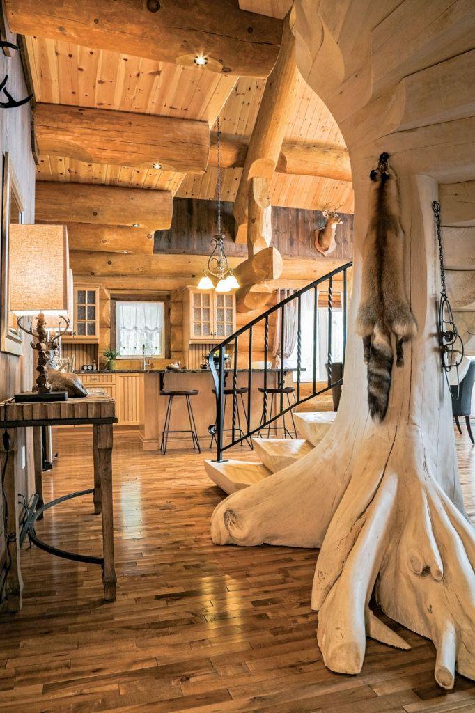 a scandinavian inspired log cabin cabin staircases cabin cabin rh pinterest com
