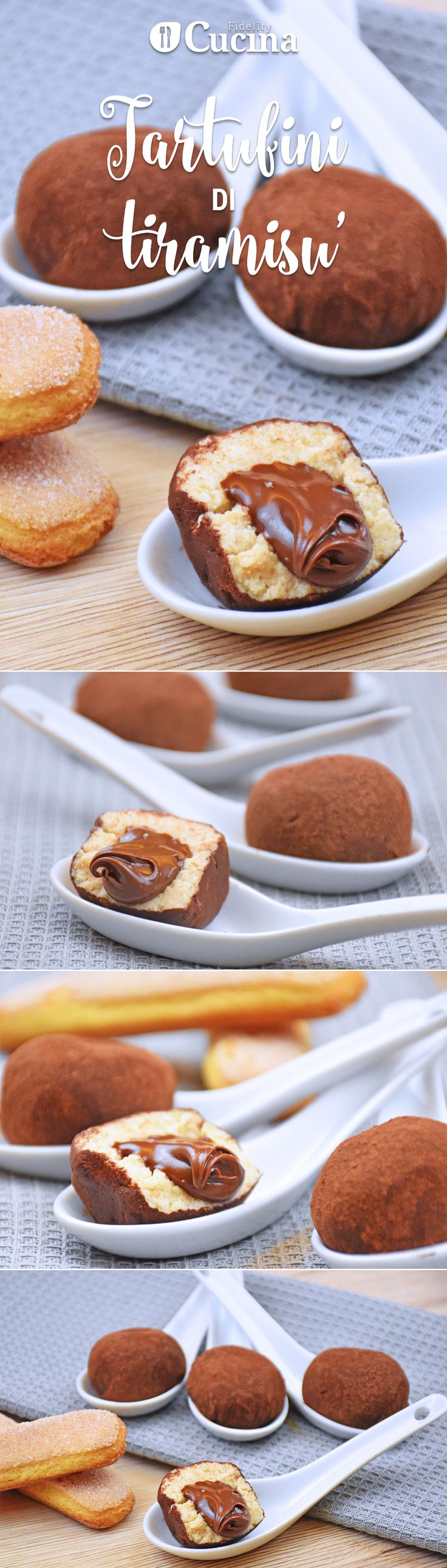 Tiramisù truffles with a Nutella heart! (with video) Oh my god!!