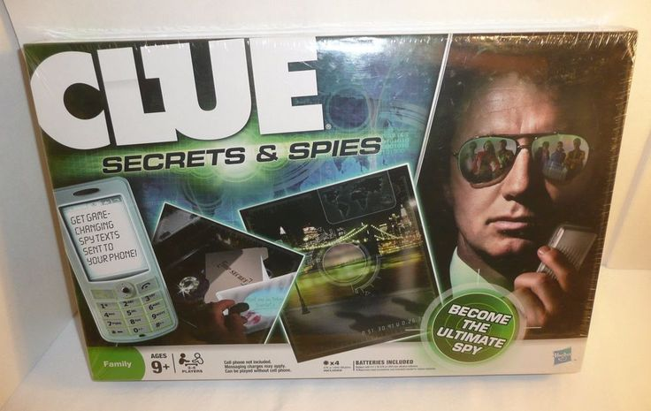 CLUE Secrets and Spies - Family Board Game Become the Ultimate Spy! 2009 #Hasbro